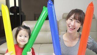 대한민국~서은이의 색깔풍선으로 응원하는 법! 핑거송 색깔놀이 핑거 패밀리송 Colored balloons, Finger family song