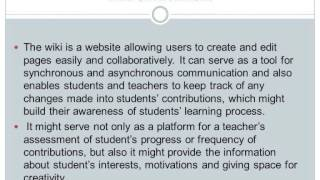 Using CLIL and Wiki in Collaborative Learning.