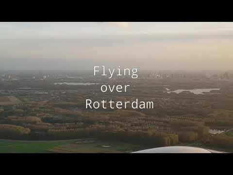Flying over Rotterdam - Rotterdam from the air.