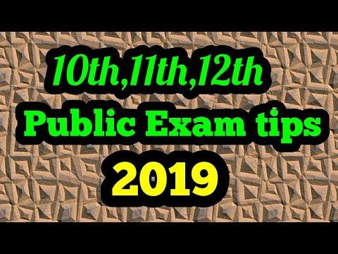 10th,11th,12th public exam tips 2019