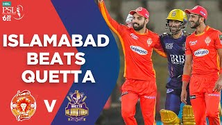 PSL 2021 | Islamabad Beats Quetta | Islamabad United vs Quetta Gladiators | Match 12 | MG2T
