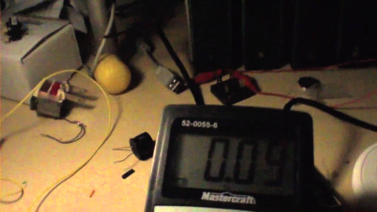 Pt 2 The Sentex Kylemod 555 Oscillator Dc To Ac Inverter 12vdc Is Based On Popular A Circuit 54vac 1 Watt Lamp Youtube