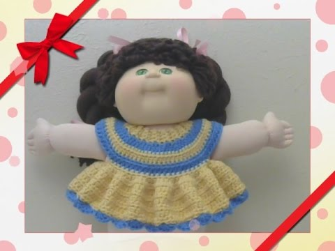 Crochet Cabbage Patch Baby Doll Top Youtube
