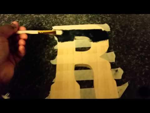 DIY Letter Painting