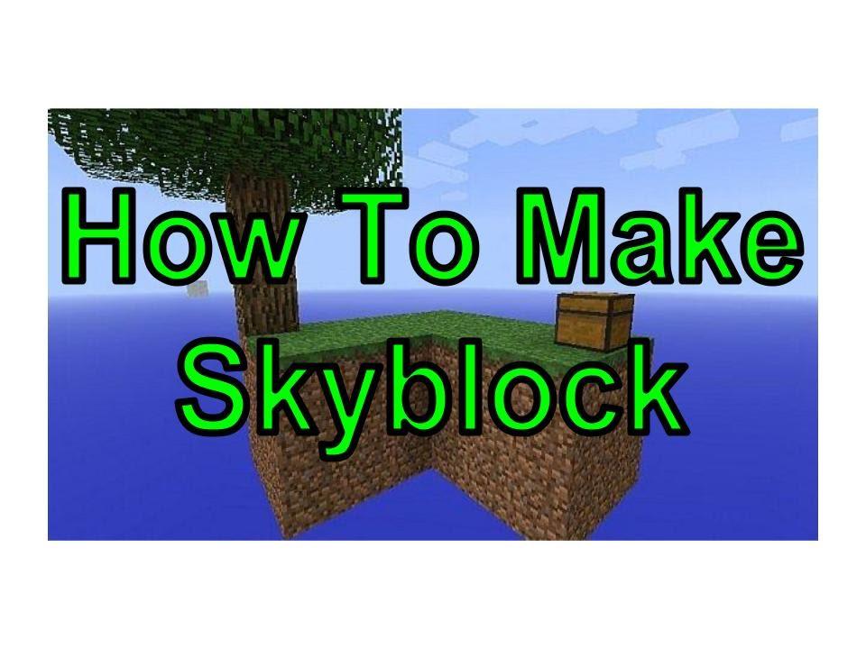 How to make Skyblock - Minecraft PS3/PS4/Xbox360/XboxOne