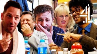 Richard Ayoade Eating with Celeb Mates on Travel Man