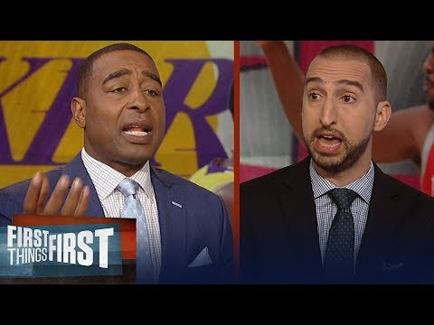 Nick Wright and Cris Carter react to Rockets vs. Lakers brawl | NBA | FIRST THINGS FIRST