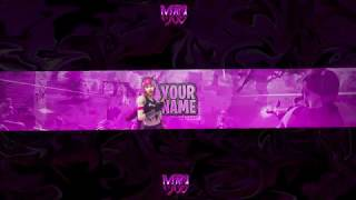 FORTNITE PINK BANNER TEMPLATE 2019 || PHOTOSHOP