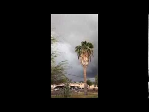 3-1-14 Mesa Arizona Storm that made a tornado