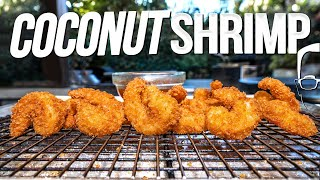 CRISPY COCONUT SHRIMP | SAM THE COOKING GUY 4K