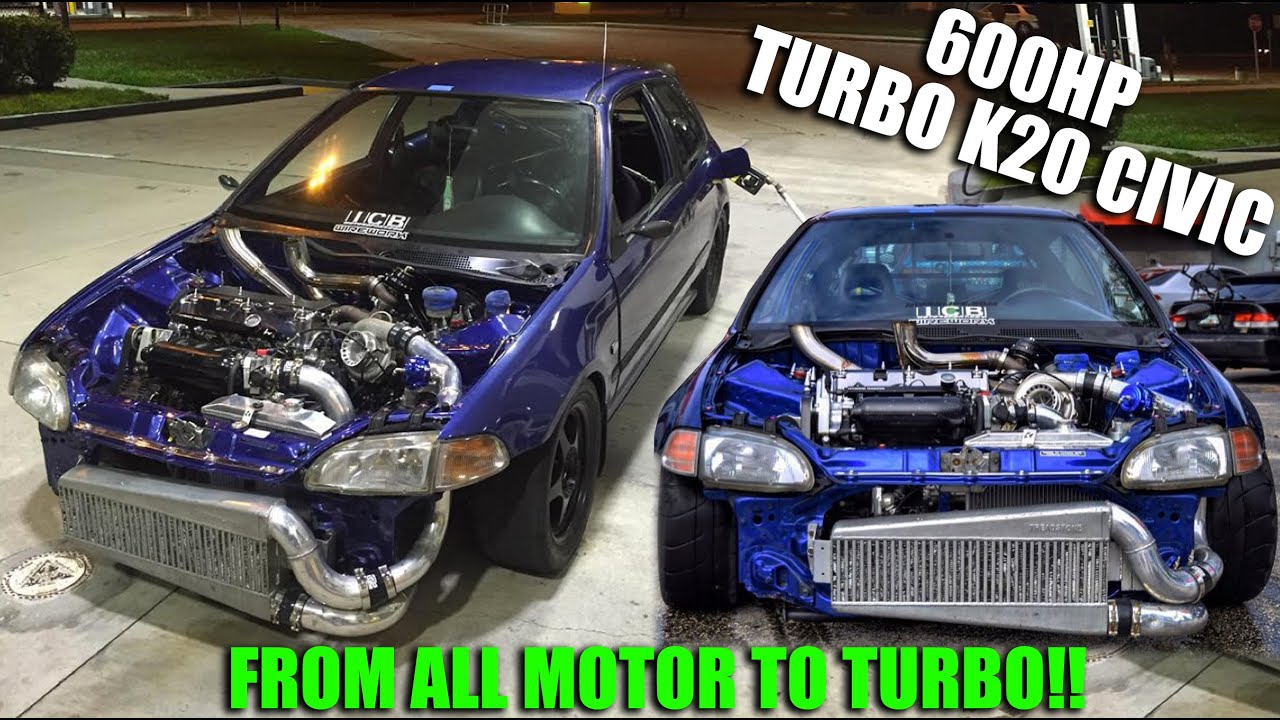 LittlemanEG 600HP K20 Turbo Civic killing almost everything on the highway!