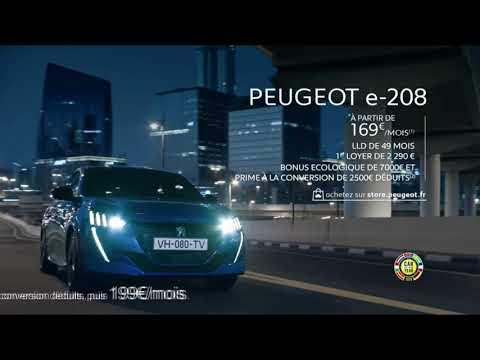 Vidéo Pub Peugeot e-208 voix jeune fille asiatique