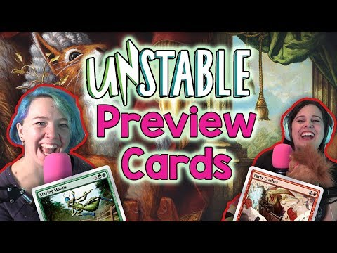 MtA **EXCLUSIVE** Unstable Preview Cards for Magic the Gathering (MtG) New Draft Set