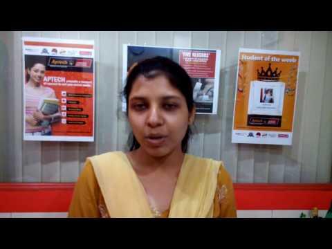 Student Testimonial for Aptech Behala, Hazra, Budge Budge