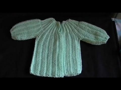 Download How to Crochet a  Baby Sweater/Cardigan - Cat's One Piece Wonder 2 of 5