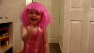 Jolie Dressed as Stephanie dancing to Lazy Town!