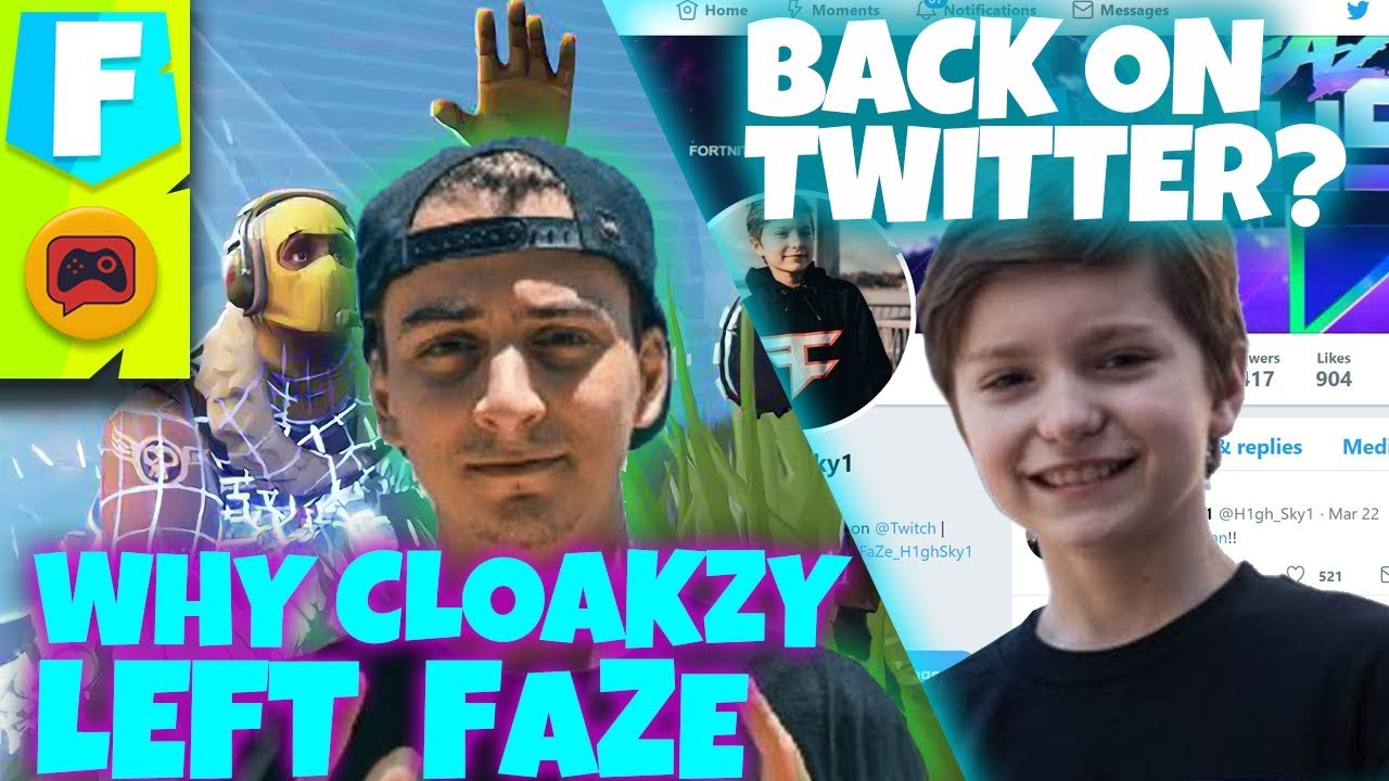 Cloakzy Talks Leaving FaZe Clan and H1ghSky1 Unbanned?