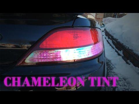 Red Chameleon Vinyl Tint Film on Tail Lights