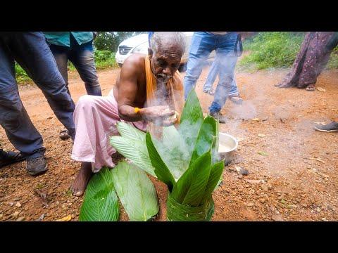 Rare TRIBAL FOOD in India!! Leaf Basket COOKING! | Kerala, India
