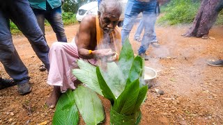 Rare TRIBAL FOOD in India!! Leaf Basket COOKING! | Kerala, India