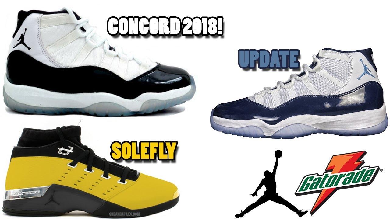 c58a3583d7e3 AIR JORDAN 11 CONCORD RELEASING 2018  JORDAN 11 MIDNIGHT NAVY UPDATE ...