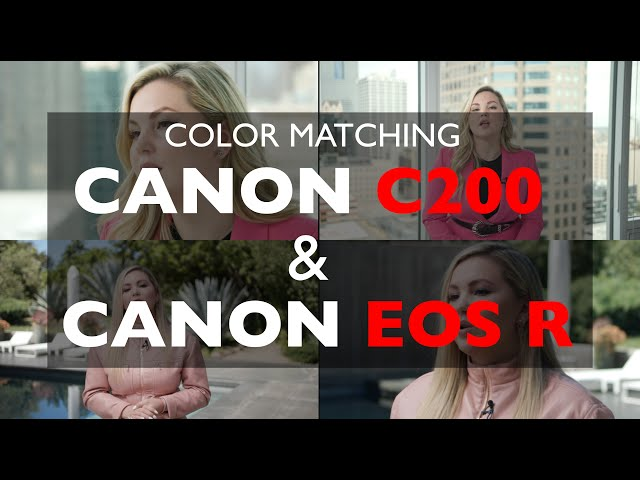 Color matching CANON C200, C300m3, C500m2 with CANON EOS R, R5, R6