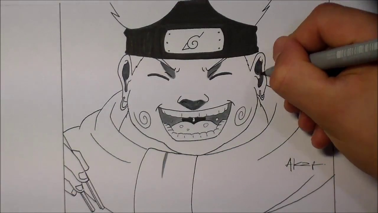 Speed drawing dessin choji manga naruto youtube - Dessin naruto manga ...