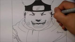 speed drawing dessin choji manga naruto