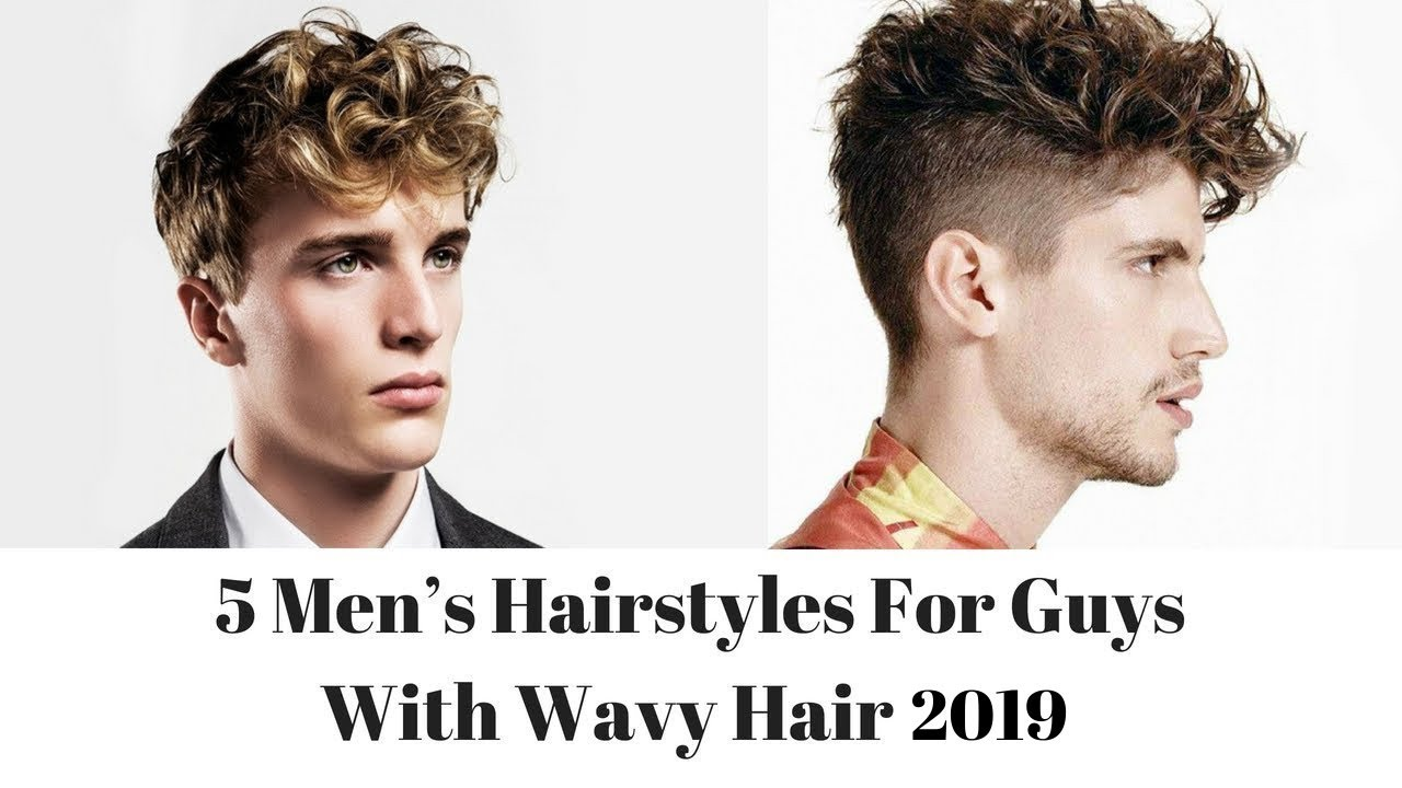 5 Men S Hairstyles For Guys With Wavy Hair Youtube
