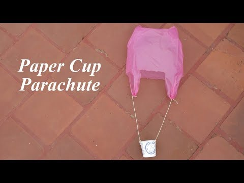 DIY How To Make Paper Cup Plastic cover Parachute Toy For School Projects