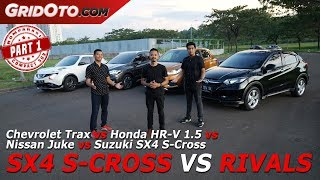 Chevrolet Trax vs Honda HR V 1 5 vs Nissan Juke vs Suzuki SX4 S Cross | Komparasi | GridOto | Part 1