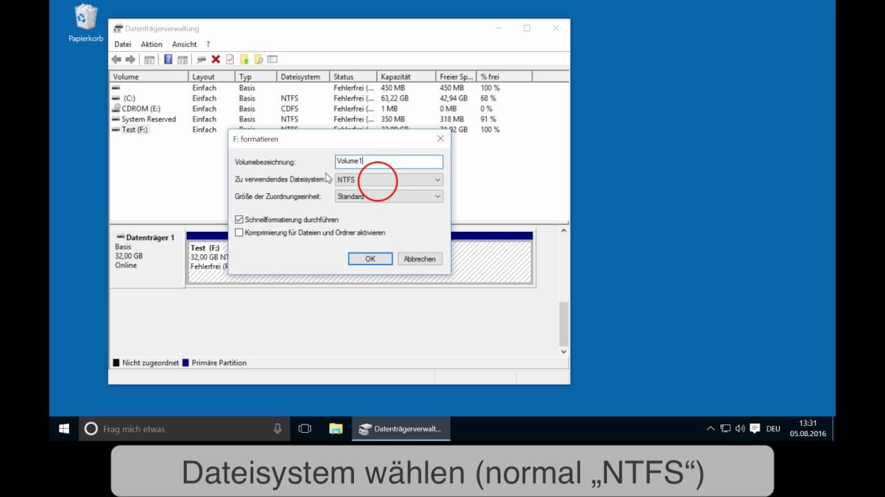 Windows Neu Installieren Festplatte Formatieren