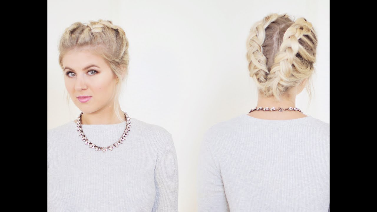 Hair How To Side Braid On Short