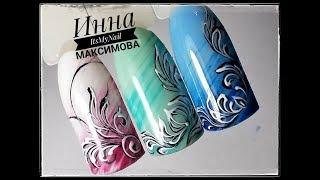 🌺 ПРОСТОЙ дизайн ногтей 🌺 ВЕНЗЕЛЯ на ногтях 🌺  Дизайн ногтей гель лаком 🌺