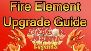 Level 6 Fire Element Upgrade Guide - Dragon Mania Legends (Hot Coals or Slow Burn?)