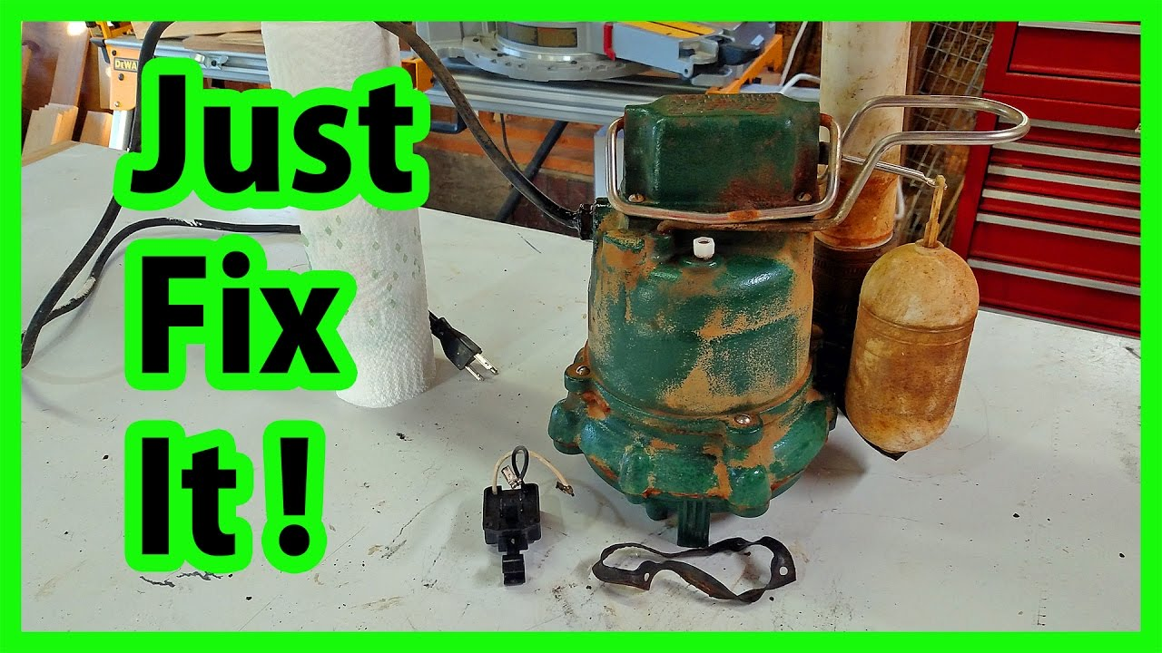small resolution of sump pump switch replacement diy youtube zoeller pump wiring