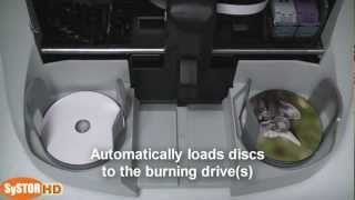 SySTOR Discmaster automated CD DVD BD printer / publisher HD