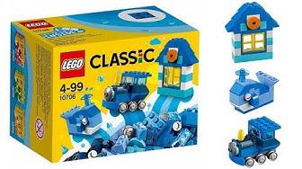 Lego classic 10706 Blue - Ngôi nhà, cá voi, đầu tàu hỏa (House, whale, train)