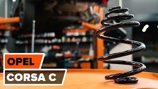 Hvordan bytte bakre hjulopphengs spiralfjærer på OPEL CORSA C [BRUKSANVISNING]