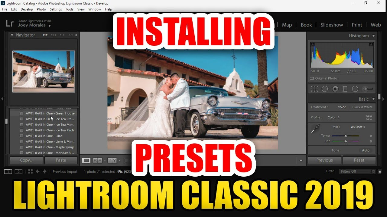 Installing Presets in Lightroom Classic CC 2019 [ How To Tutorial for XMP & LR Template Files ]