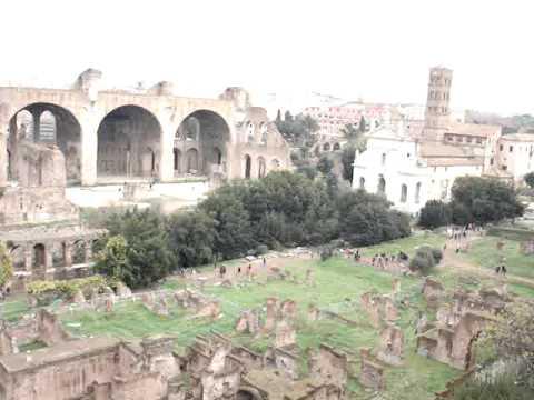 Germany-Rome-Egypt-Turkey: Palatine Hill View Roman Forum #17 120609.MPG