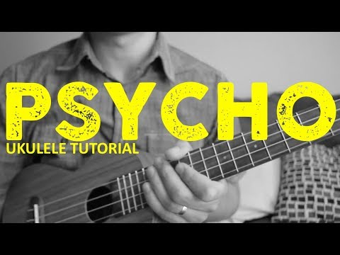 Psycho - Post Malone - EASY Ukulele Tutorial - Chords - How To Play
