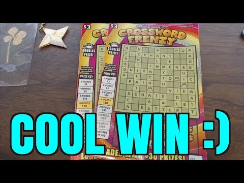 COOL LOTTERY SCRATCH WIN FROM NORTH CAROLINA CROSSWORD TICKET!!!