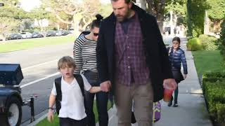 Ben Affleck's On Daddy Duty With Son Samuel