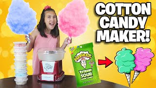 COTTON CANDY MAKER from VAT19!!! Sour WarHeads Cotton Candy! Turn Any Hard Candy into Cotton Floss!