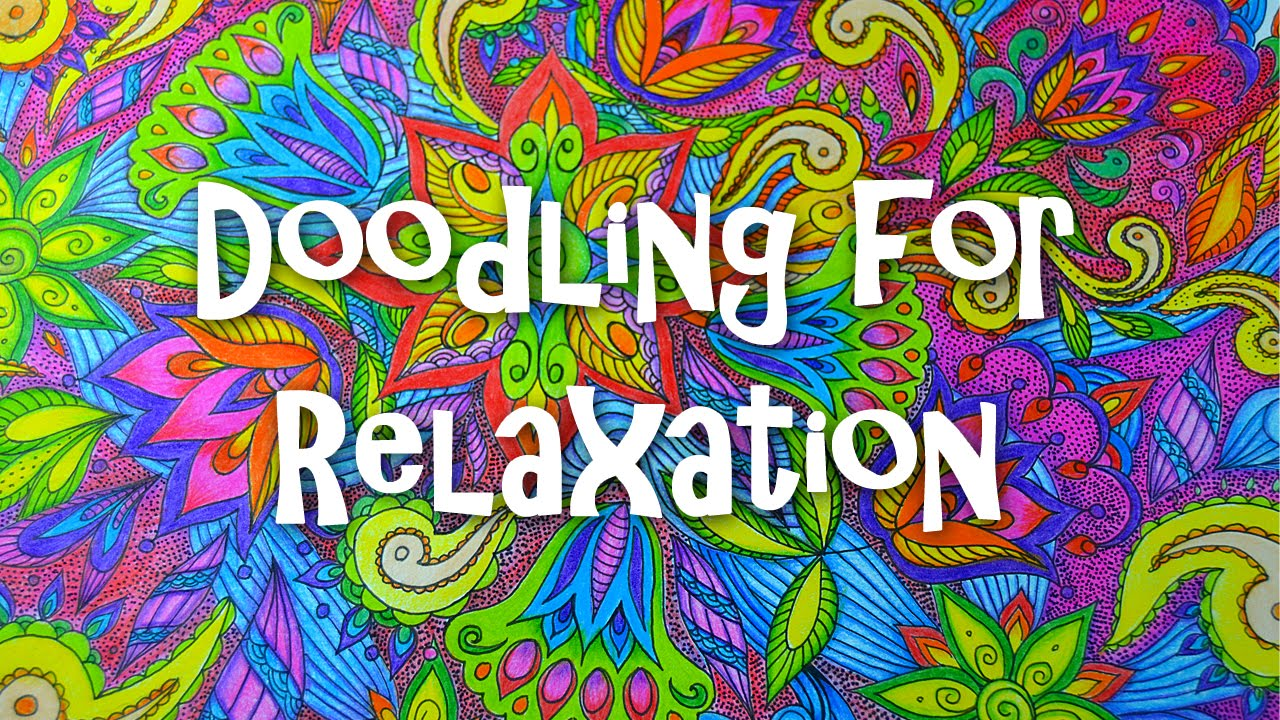 Relax and Zen Doodle | How to draw Zentangle Flowers With Color Pencils