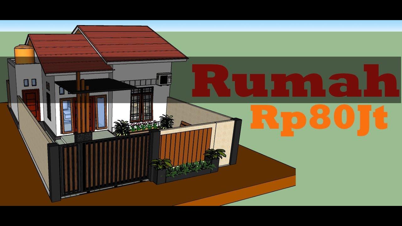 Desain Rumah 8x7 5 Meter Dengan 2 Kamar Tidur Minimalis Sederhana Youtube