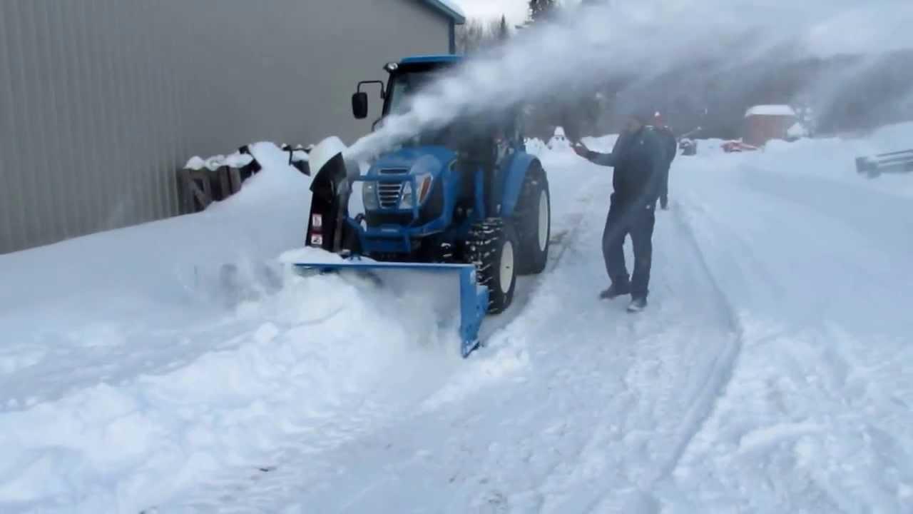 LS Tractor, souffleur frontal, front snowblower