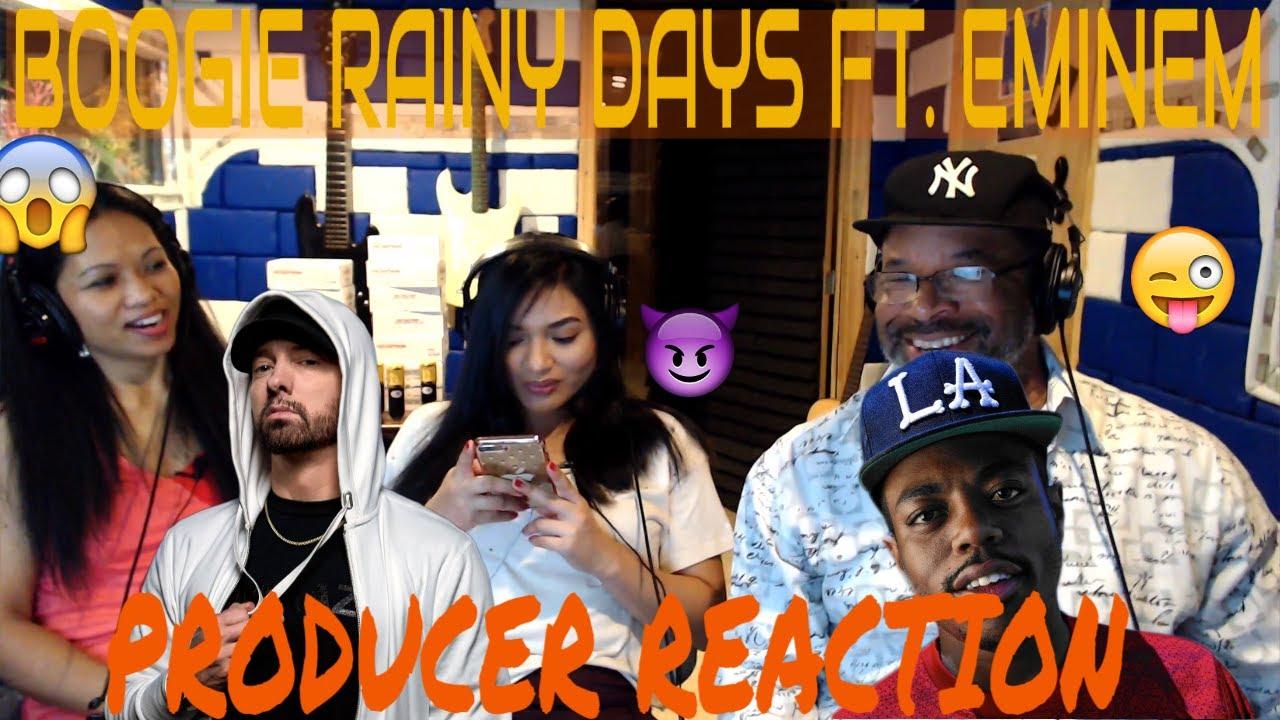 Download Boogie Rainy Days ft. Eminem Producer Reaction