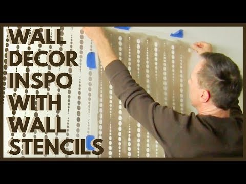 Create A Stunning Accent Wall With Our Beads Allover Stencil!
